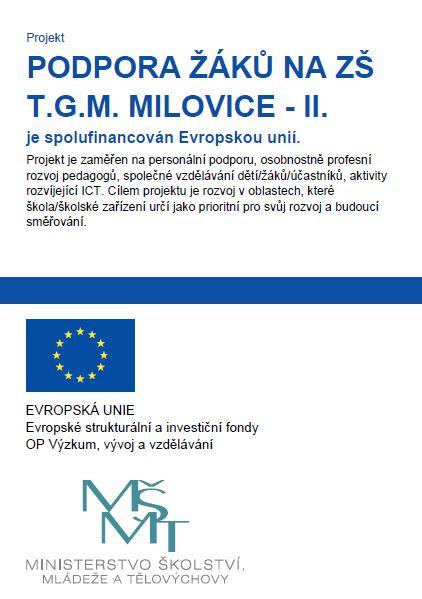Podpora žáků ŽŠ T.G.M. Milovice – II.