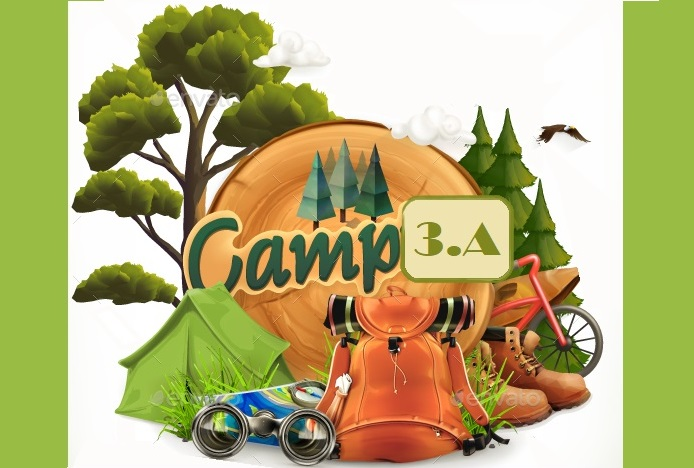 Camping Adventure time vector illustration-01